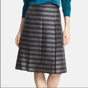 HALOGEN A-Line Box Pleat Fully Lined Skirt